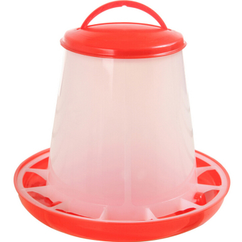 Harga 1.5kg Red Plastic Feeder Baby Chicken Chicks Hen Poultry Feeder - Intl