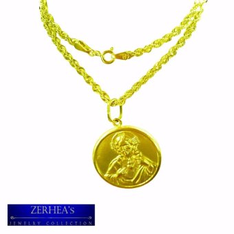 Harga ZERHEA's 18k Mens Necklace with Holy Pendant