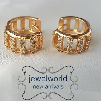 Jewelworld Multi Layer 18k Bangkok Cubic Zircon Earrings (gold) Price Philippines
