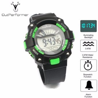 Harga Outperformer Chronology Series Nuvo X GREEN Watch with Stopwatch