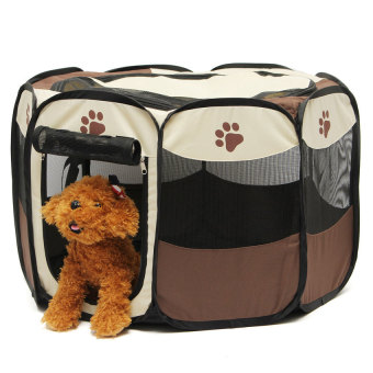 Pet Home Fence Dog Bed Kennel Play Pen Puppy Soft Playpen ExerciseRun Cage Folding Crate - intl Price Philippines