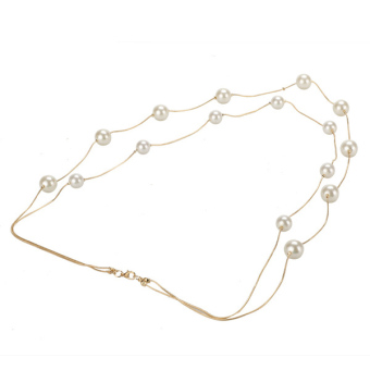 Toprank Korea Ladies Nice Jewelry Pearl Double Layer Long Necklace Price Philippines