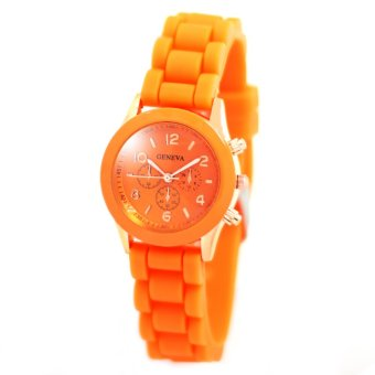 Harga Geneva Little Nikka Women's Silicon Strap Watch (Orange)