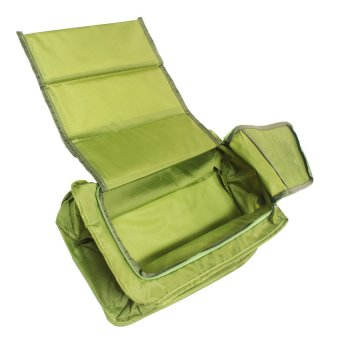 Harga Multifunction Nylon Folding Travel Shoe Bag (Auqa Green)