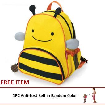 Harga Lovely Cute Kids Backpack Toys Mini Schoolbag Children's Gifts Kindergarten Cartoon Boy Girl Baby Student Bags(Bee)