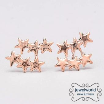 Jewelworld 3 Stars Bangkok Plated Earrings (gold) Price Philippines