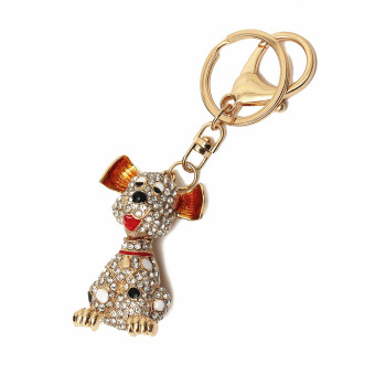 Harga Pet Dog Cute Doggie Charming Bling Lovely Pendent Crystal Keychain Keyring Gift