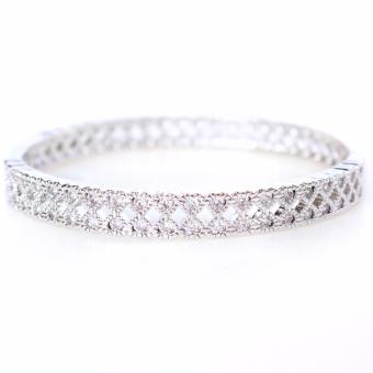 Harga Athena and Co. 18k White Gold Plated Aria Bangle