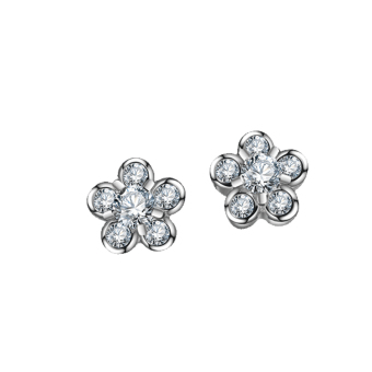Harga Just Gift Stud Flower Earrings 3039 (Silver)