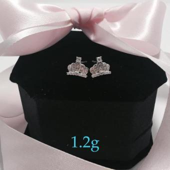 Harga Silver Kingdom PH Embellished Crown Earrings