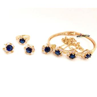MEI MEI Blue Round 14k Bangkok Jewelry Set Price Philippines