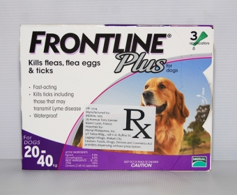 Harga Frontline Plus For Dogs 20-40kg (3 applications)