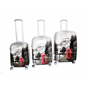 "St.Pauls Cathedral Hard Case Travel Luggage F-9021 set of 3 size (20""/24""/28"") Price Philippines"