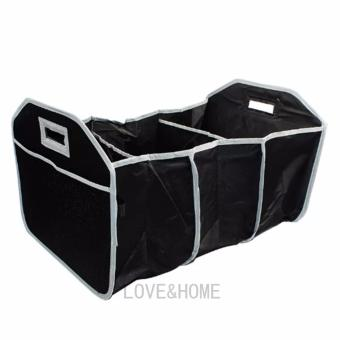 Harga LOVE&HOME Collapsible EZ 3-Section Trunk Organizer (Black)