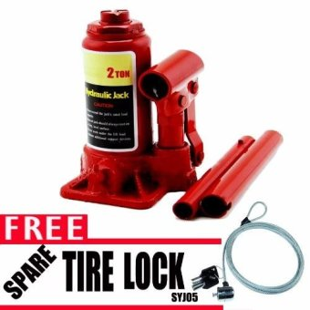 Harga Prostar 2 Ton Bottle Jack with Free Anti-Theft Spare Tire Lock SYJ05