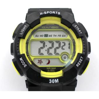 Harga Sanse Uni-sex Watch TPU resin Strap-622 Yellow