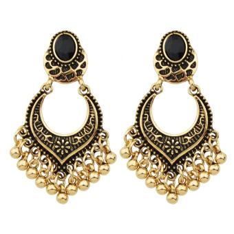 Harga Feelontop Tibetan Design Metal Beads Big Chandelier Earrings - intl