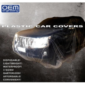 Harga OEM Engineering DISPOSABLE PLASTIC CAR COVERS Large pack of 2 pcs