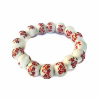 Be Lucky Charms Feng Shui Red Ceramic Big Bead Bracelet Price Philippines