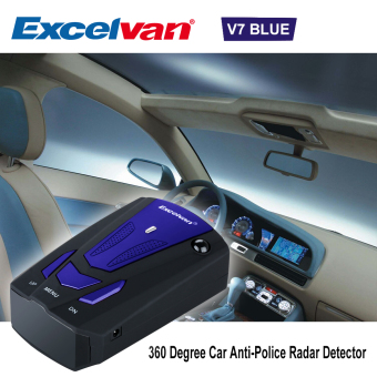 Harga Excelvan 360 Degree Car Full 16 Band V7 Blue Speed Safety Radar Detector