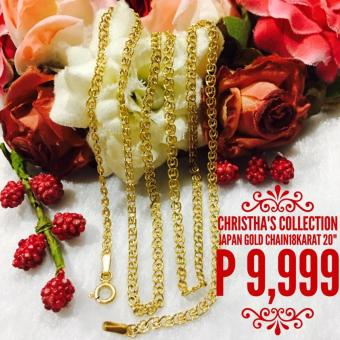 "Christha's Collection Andrea 20"" Chain Link Necklace Japan Gold 18K Pawnable Price Philippines"