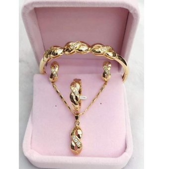 14k bangkok gold Infinity Set (size 7) Price Philippines
