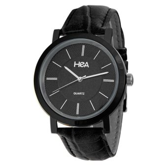 Harga Hea Lepiz Unisex Black Leather Watch Kha2114-1502