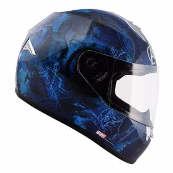 Harga Marvel Full Face Helmet Avengers Captain America (Blue)