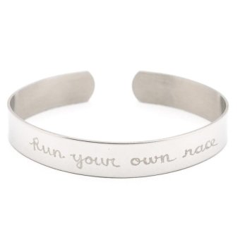 Harga Run Your Own Race Bangle (Silver)