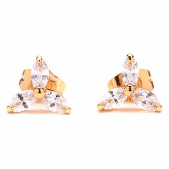 Jewelworld Bangkok 18k Flower Zircon Earrings (gold) Price Philippines