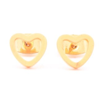 Harga Glamorosa Simple Heart Earrings (Gold)