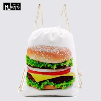 Harga Urban Hikers Canvas Drawstring Backpack (Burger)