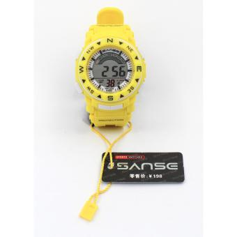 Harga Sanse Water resistant Kid's Watch TPU resin Strap s-623 Yellow