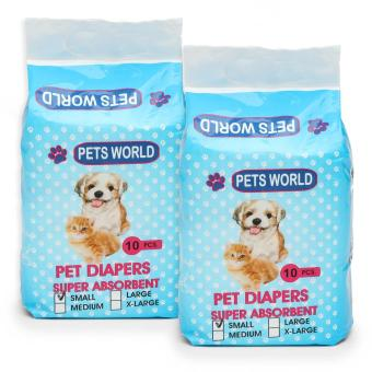 Harga Pets World 10-Piece Small Pet Diapers (Set of 2)