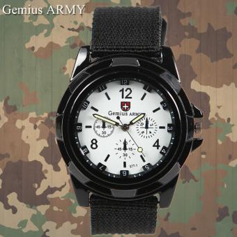 Harga GEMIUS ARMY Military Sport Style Army Canvas Strap Watch (White)