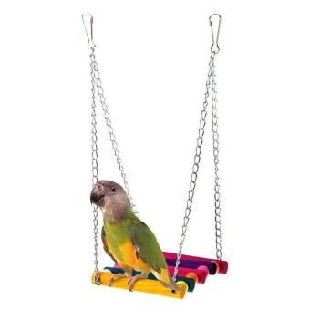 Harga Pet Bird Budgie Cockatiel Wooden Cage Hammock Swing Toy - Intl