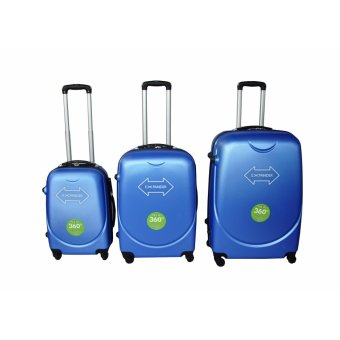 "Expander Hard Case Travel Luggage F-8011 set of 3 size (20""/24""/28"") Highlight Blue Price Philippines"