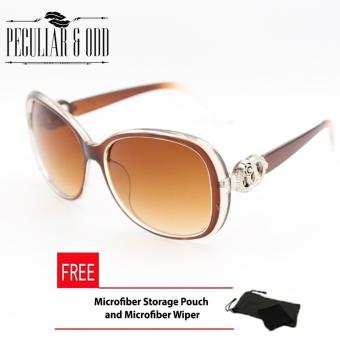 Harga Peculiar's Oversized Sunglasses with Round Floral Concept for Women Brown_9575