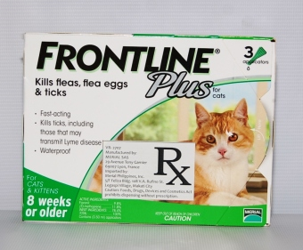 Harga Frontline Plus For Cats and Kittens 8 weeks or older (3 applications)