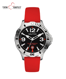 Nautica Men's Red Silicone Strap Watch NAD01100G Price Philippines