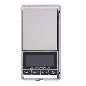Harga 200gx0.01g Mini Digital Scale Diamond LCD Electronic Jewelry Pocket Scales (Intl)