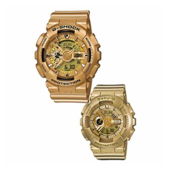 Casio G-Shock & Baby-G Men's & Women's GA-110GD-9A & BA-111-9A Couple's Resin Strap Watches Gold Price Philippines