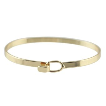 Harga Simple Style Gold Silver Color Chain Link Bracelet and Bangles (Intl)