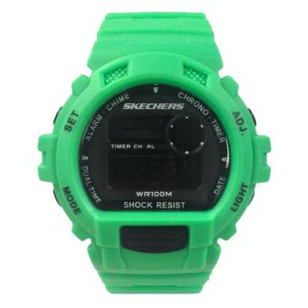 Harga Skechers Complex Color Green Polyurethane Strap Watch 71111