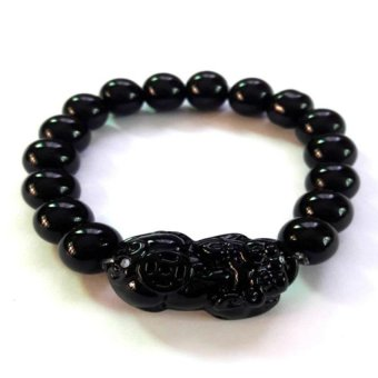 Be Lucky Charms Feng Shui Black Onyx Money Catcher Pi Yao Bracelet (Black Onyx) Price Philippines