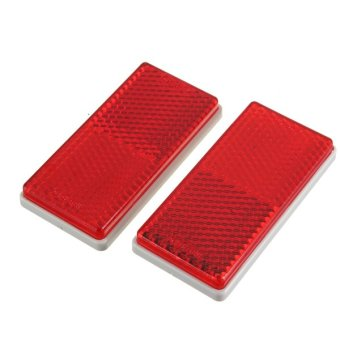 Harga 2PCS REAR BUMPER Reflex Red Reflector Adhesive 70X28X7mm For Trailer Truck Car
