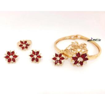 MEI MEI Ruby Flower 14k Bangkok Jewelry Set Price Philippines