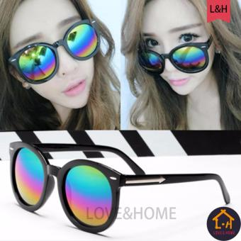 LOVE&HOME Atlas Apparel Womens Oversized Round Sunglasses (Rainbow) Price Philippines