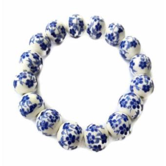 Be Lucky Charms Feng Shui Blue Ceramic Big Bead Bracelet Price Philippines
