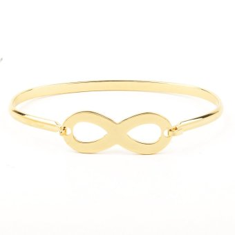 Infinity Dainty Stainless Steel Bangle - Gold Price Philippines